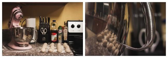 kithcenaid mixer being used with pretzel dough recipe