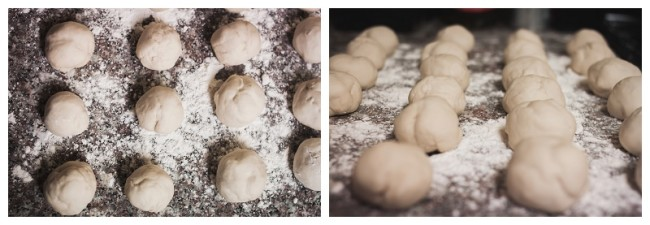 pretzel dough being made