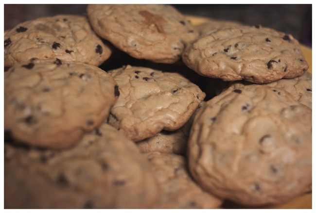 homemade cookies on a plate