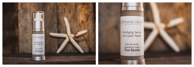 skin care products with starfish product shoot